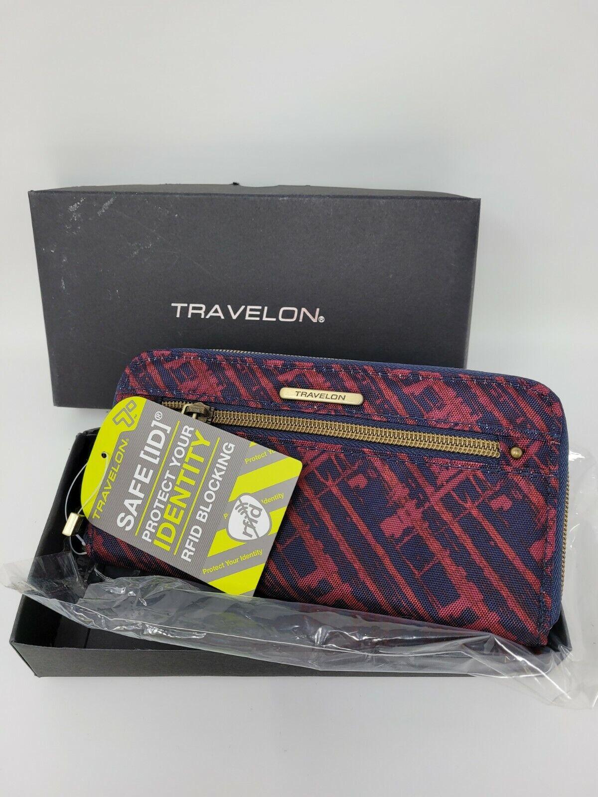 NWT Travelon Zip Around RFID Blocking Wristlet Wallet