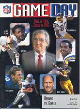 Cleveland Browns New York Giants 8/6/95 GameDay Game Program...Jim Finks HOF +4