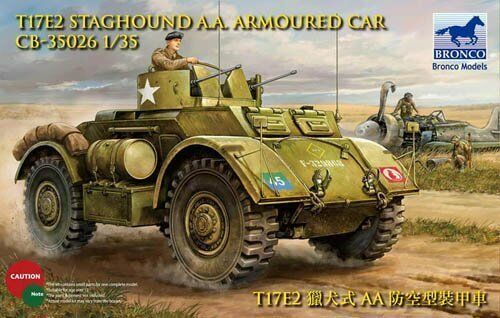 Bronco 1 35  CB35026 T17E1 Staghound AA Armored Car