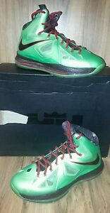 promo code 03d04 0892c Image is loading RARE-Nike-Air-LeBron-X-10-Cutting-Jade-