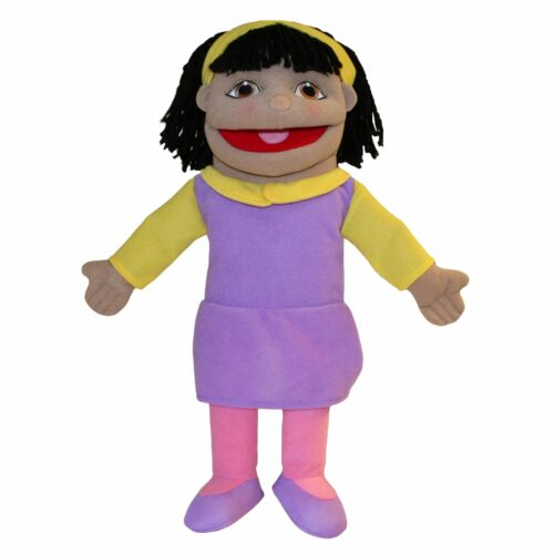 Small Girl Olive Skin Tone People Puppet Buddies The Puppet Company LLC