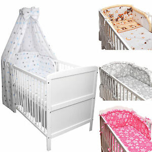 babybett kinderbett juniorbett wei 140x70 bettw sche bettset komplett 22tlg neu ebay. Black Bedroom Furniture Sets. Home Design Ideas