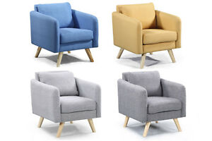 Image Is Loading Modern Fabric Armchair Occasional Bedroom Chair  Footstool Grey