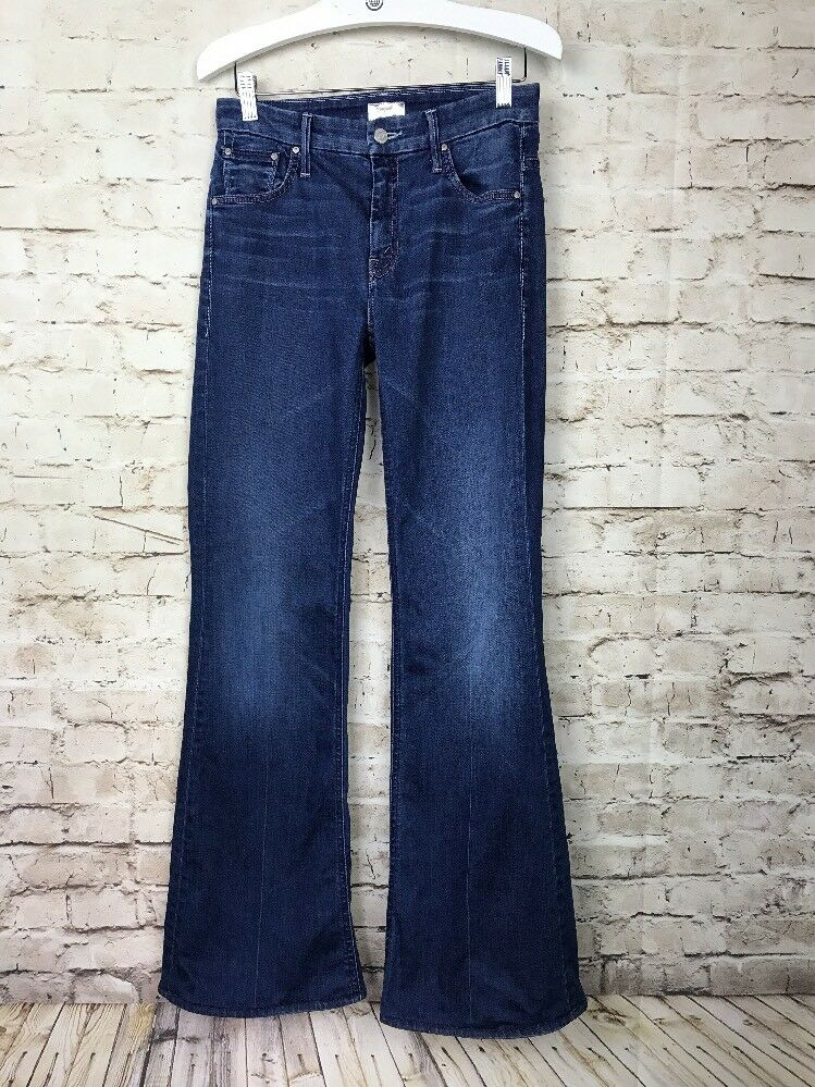 MOTHER Women's 25 x 31 The Mellow Drama Stretch Flare Jeans In Stardust Wash EUC