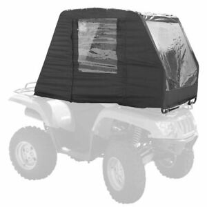 Black ATV Cold Weather Cabin Cover & Windowed Rider Enclosure Canopy