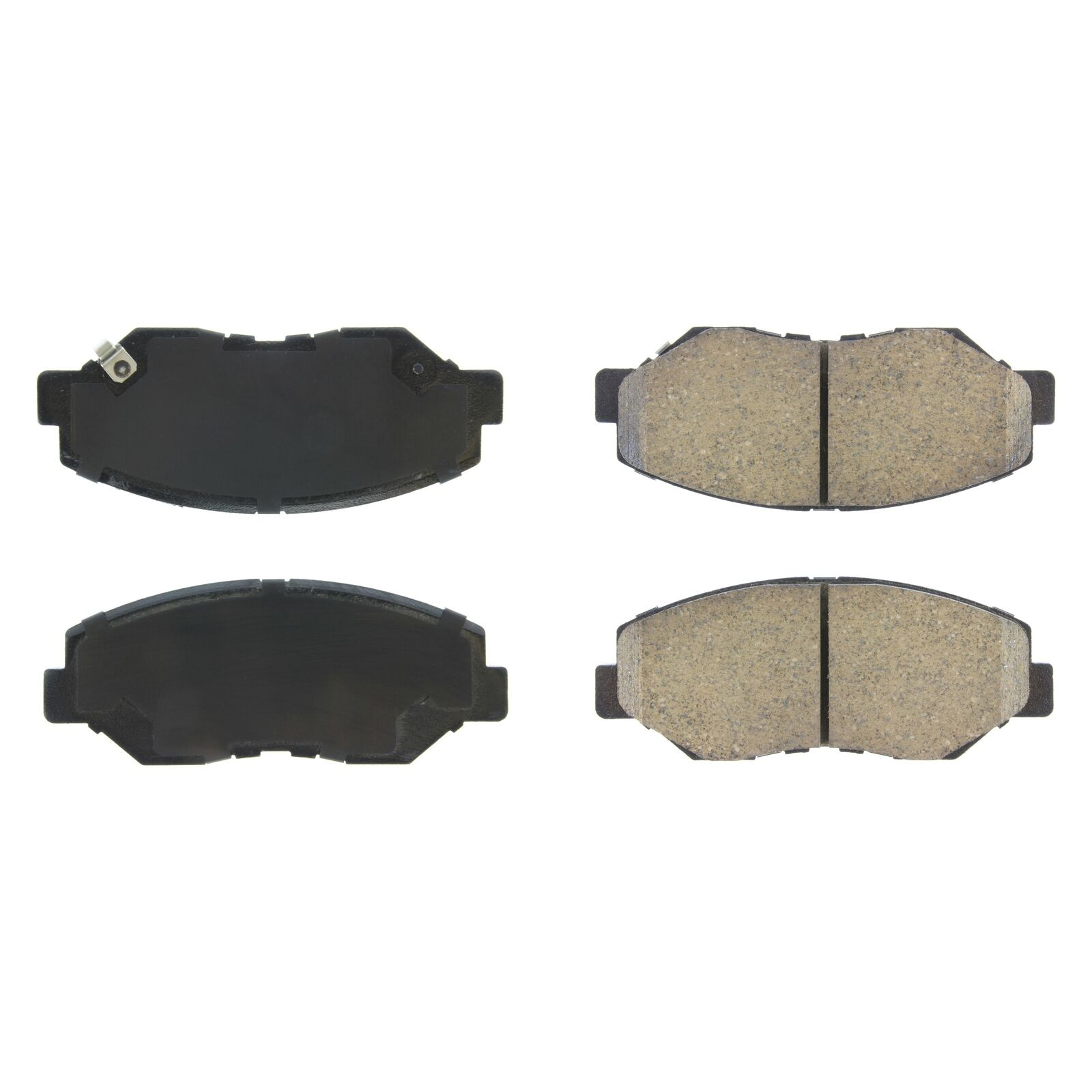 StopTech 308.09141 Street Brake Pads; Front with Shims and Hardware