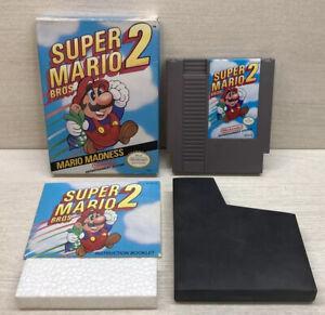 Super Mario Bros. 2 (Nintendo NES, 1988) Complete CIB Authentic Tested