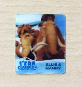 CARD KINDER MERENDINE -SERIE- L'ERA GLACIALE 4 - MINI CARD N°21 ELLIE & MANNY R8x44oDi-09120215-936243422