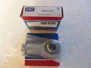Embout à rotule SKF SIKAC 20 M - France - État : Neuf: Objet neuf et intact, n'ayant jamais servi, non ouvert, vendu dans son emballage d'origine (lorsqu'il y en a un). L'emballage doit tre le mme que celui de l'objet vendu en magasin, sauf si l'objet a été emballé par le fabricant d - France
