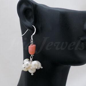 Orecchini-argento-925-tulipano-corallo-rosa-e-perle-Gioielli-Artigianali-Pietre