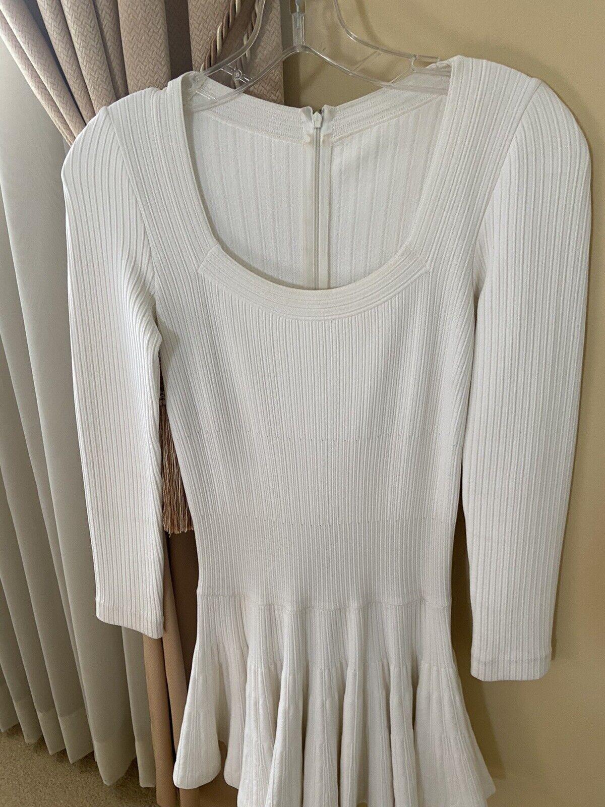 Azzedine Alaia White Long Sleeve Top Blouse Dress… - image 2