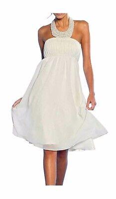 363.111 Kleid Chiffon-Abendkleid mit Perlen creme von ...