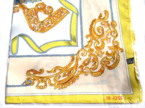 Nikituch Ornamente weiß mit 3 Fb z Wahl Tüchlein Halstuch Microfaser Polyes 58cm