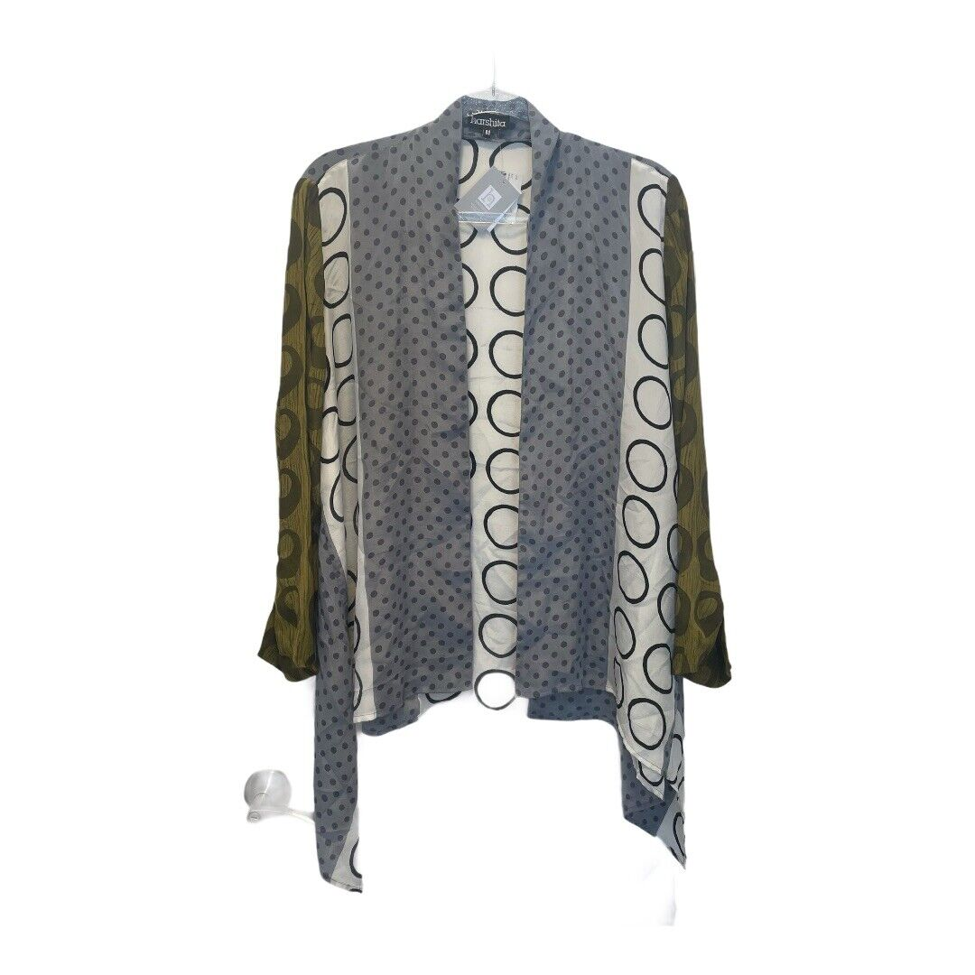 Harshita Designs - Gray Brown Mixed Pattern Silk Kimono Jacket RV - NWT