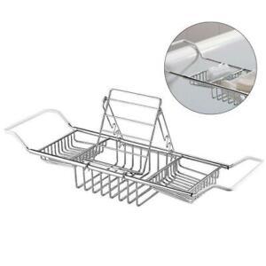 Adjustable-Over-Bath-Tub-Tray-Organiser-Storage-Shelf-Caddy-Ipad-Book-Wine-Rack