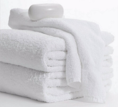Bath Towels-MHF Brand-6 Pack-24x50 inches-White-10.50 Lbs 100/% Cotton