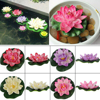 Hotsale DIY Artificial Water Lotus Floating Flower Fish Tank SPA Pool Plant Deco