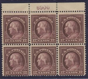 Details about US STAMP #417 --- 12c WASH-FRANK -- PB6-- FLAT,p 12,190w --  1914 - MINT/UNUSED