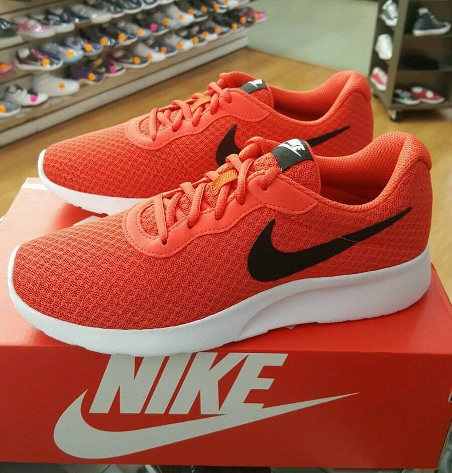 NIKE TANJUN 812654 800 orange BLACK-WHITE MEN US SZ 9.5
