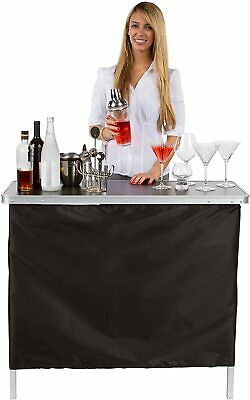 Details about  /Mini Bar Portable Folding Table Home Cocktail Party Stand Drink Patio Tailgate