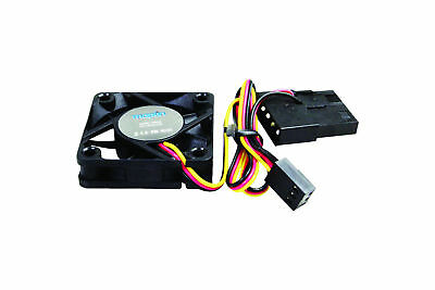 Black Aggressive Pc Case Fan 4cm 40mm 4000rpm Quiet 18.7 Dba 3 And 4 Pin 12v Aesthetic Appearance 18.7 Cfm