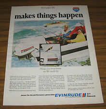 1970 Vintage Ad Evinrude 85 Outboard Motors Couple Fishing Milwaukee,WI