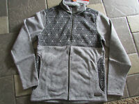 Merrell Kolchak Jacket Mens L Full Zip Fleece Jacket Black/gray Free Ship