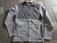 Merrell Kolchak Jacket Mens Xl Full Zip Fleece Jacket Black/gray Free Ship