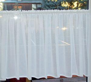Scheibengardine 80cm hoch ohne Muster Breite wählbar Gardine ab 90cm bis 240cm