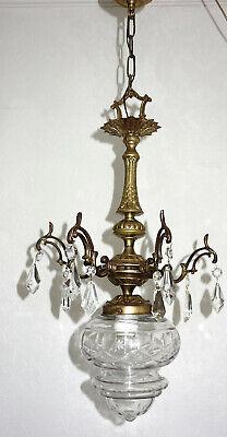 Effizient Antik Französische Messing-kristall-glas Kronleuchter, Lüster 1 Flammig Verhindern, Dass Haare Vergrau Werden Und Helfen, Den Teint Zu Erhalten