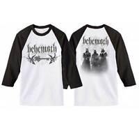 BEHEMOTH - Band Logo Raglan Baseball Style Long Sleeve T SHIRT S-M-L-XL-2XL New