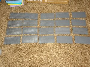 HUGE Lego Base Plate Lot of 20 grey thick 8x8 8 dot x 8 dot baseplates