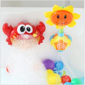 Bebe-bano-juguete-ninos-GIRASOL-Spray-ducha-de-agua-grifo-de-la-banera-ninos-bano-Edu