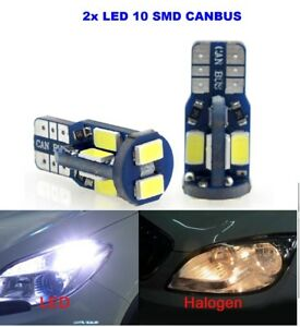 2 LED PLAQUE D/'IMMATRICULATION CITROEN DS5 T10 W5W 10 SMD BLANC XENON CANBUS