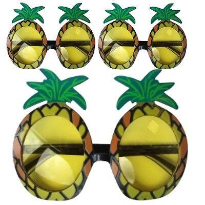 Generoso 10 X Ananas Hawaiano Novità Spiaggia Sole Occhiali Addio Celibato Festa Costume
