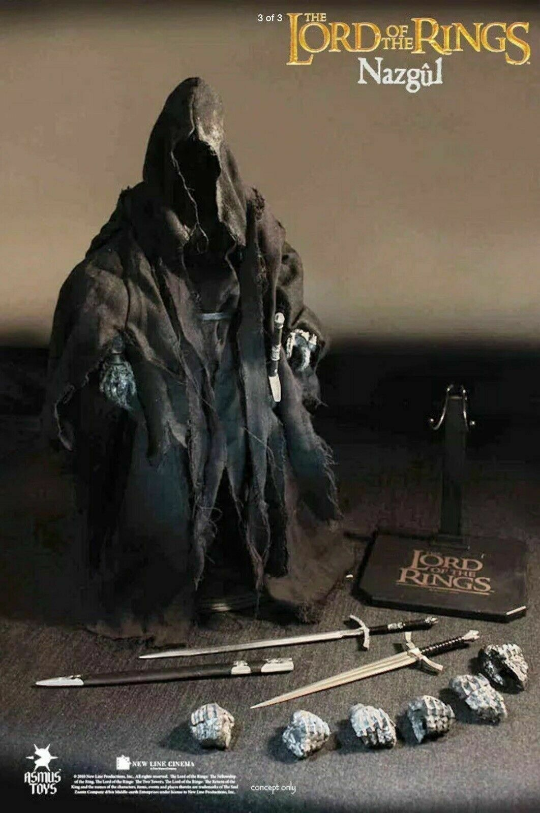 RARE ASMUS Toys - The Lord of the Rings - Nazgul 1 6 Figure -  NEW