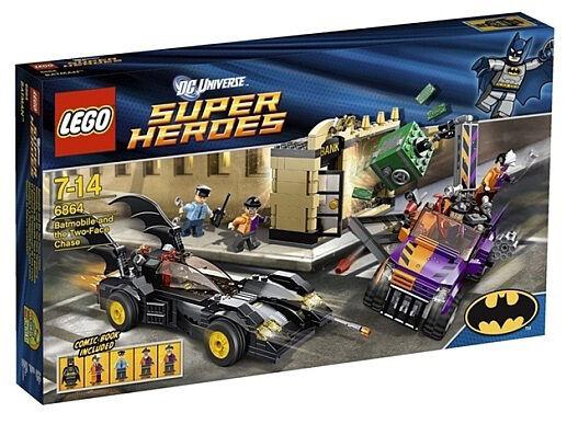 Lego Lego Lego 6864  Super Héroes Batman   el Batimóvil dos caras Chase  retirado   compras en linea