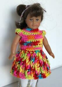 Clothes-for-6-034-Mini-American-Girl-Doll-w-Cloth-Body-Handmade-Dress-USA-Lot-AGC-16