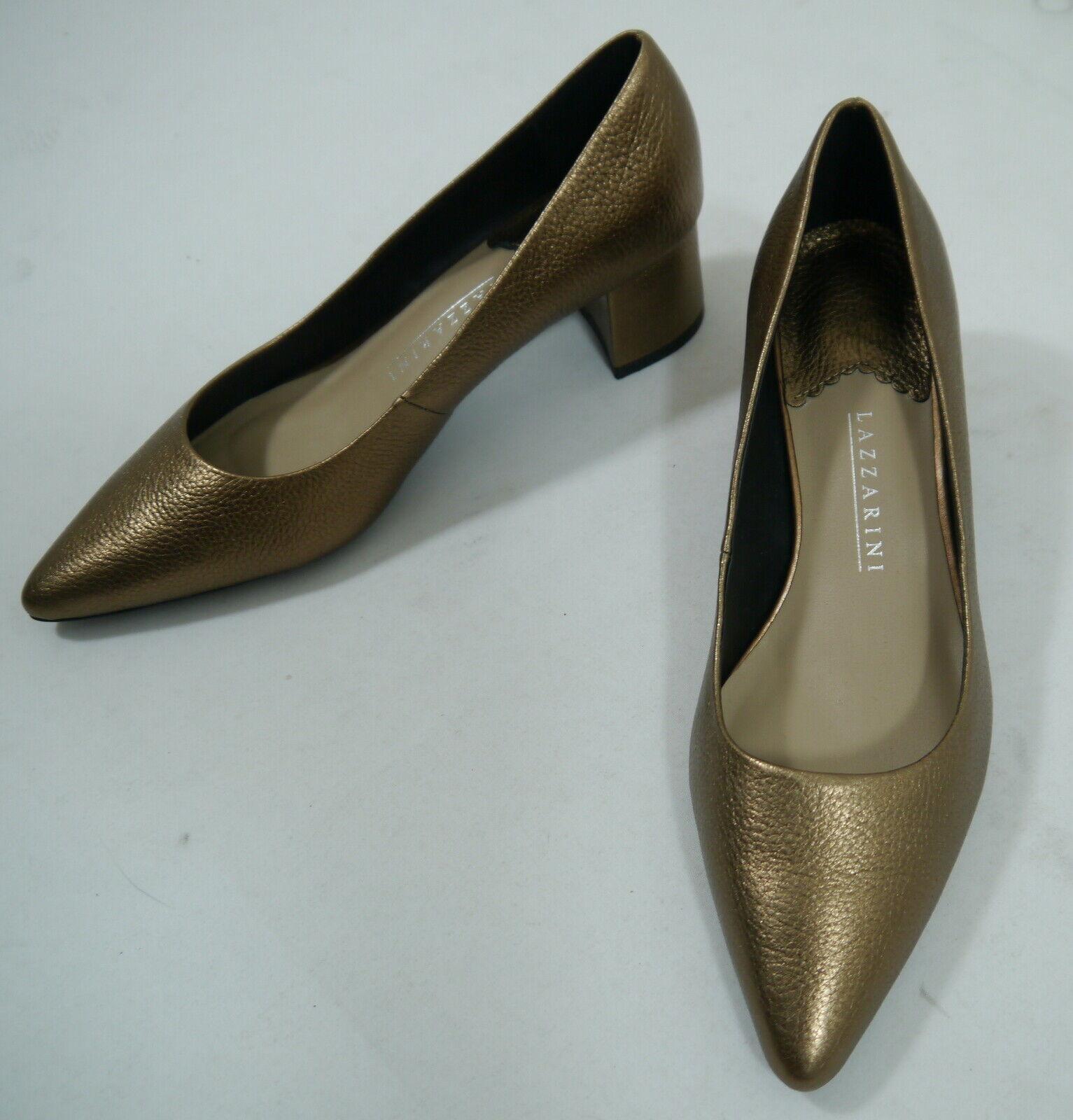 DamenLeder Pumps LAZZARINI Gold Gr.39 elegant Tanzschuhe NEU