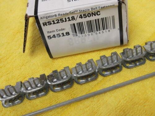 "Flexco 54518 Alligator 18/"" Ready Set Staples RS125J18//450NC"
