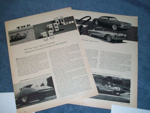 1957 Vintage Article on the Super Sport Corvette and Design For the Future