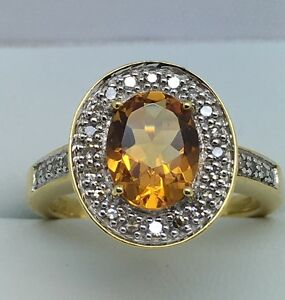 18ct-Yellow-Gold-20ct-Diamond-And-Citrine-Ring-Size-M