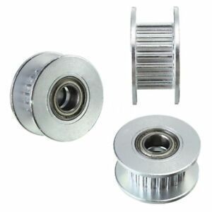 3x-20T-Dia-5mm-Bore-6mm-GT2-Belt-Smooth-Idler-Pulley-w-Bearing-for-3D-Printer-G1