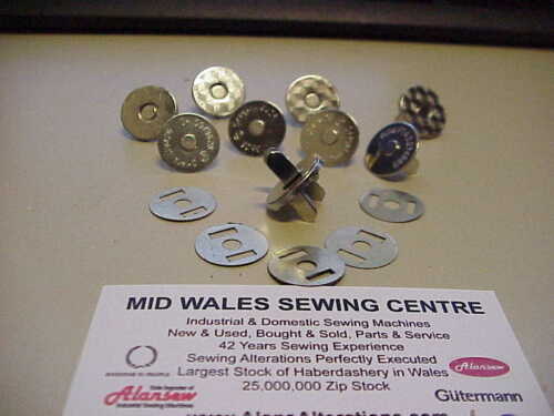 5 SETS 19mm STRONG NICKLE MAGNETIC CATCHES ( For Handbags etc)