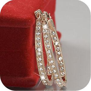 18k-rose-gold-gp-made-with-SWAROVSKI-crystal-hoop-stud-earrings-oval-hoops