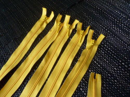 p//St. € 1,00 5 trozo de envase Cremalleras de plástico 50 cm de largo amarillo