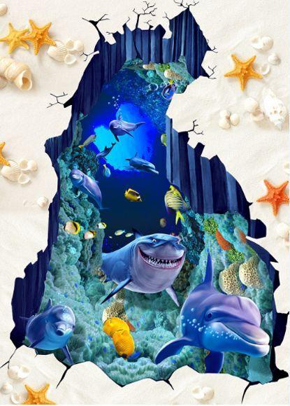 3D beach shell fish 3596 Floor WallPaper Murals Wall Print Decal 5D AJ WALLPAPER