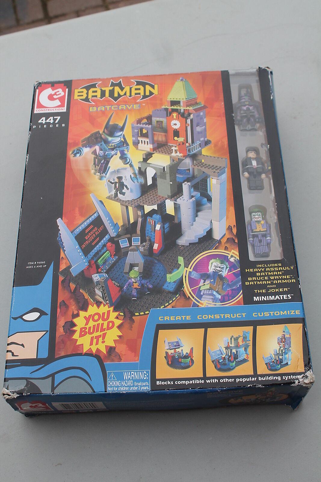New in Box C3 Batman Batcave 2004 Lego Comp. DC 447 pieces Minimates Joker