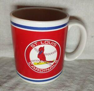 Vintage-Papel-Official-Major-League-Baseball-Coffee-Mug-St-Louis-Cardinals-Red