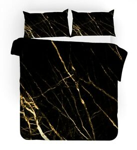 Elegant Geometric Marble Dots Stripes Leaves Bedding Duvet Quilt Cover Set Gift